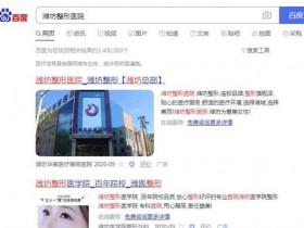 潍坊整形医院做网络推广常用的方式有哪些?
